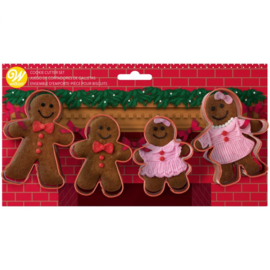 Gingerbread cutters - set 4 st (Wilton)