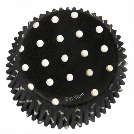 Cake cups dots Black