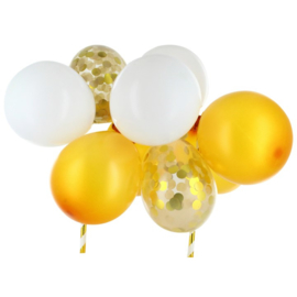 Balloon cake topper Gold (house of cake)
