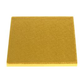 Cake drum Gold vierkant 20 cm per 5 st