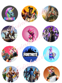 Fortnite imprimé comestible cupcake 1