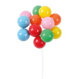 Ballonnen tros 6 cm (plastiek decoratie)