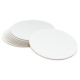 Support Argent/blanc rond 10 cm par 100 pcs