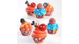 Mickey Mousse baking cups - 50 st (red)