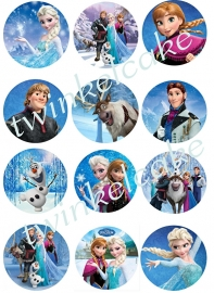 Frozen Edible print cupcake personnage