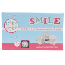 Cake Star mini Uppercase Alphabet cutter 26 st (hoofdletters)