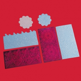 FMM Impression mat Filigree Lace set 2
