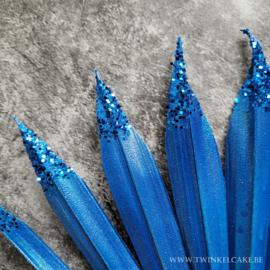Sun Palm Royal Blue Glitter