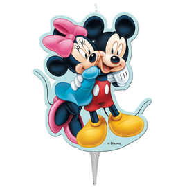 Mickey en Minnie 2D kaars 8 cm