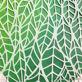 Stencil Bladeren patroon