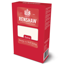 Renshaw Extra White rolled fondant  6 x 1 Kg