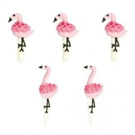 Flamingo suikerfiguurtjes 5 st