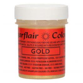Sugarflair glitter paint Gold - 35 gr