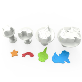 Unicorn plunger/cutter set 4 st