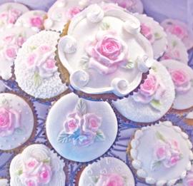 Cupcake top Rose by Karen Davies