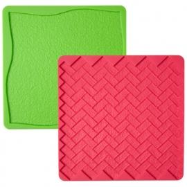 Wilton Texture mat gras/steen set 2