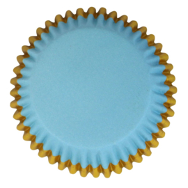 Blue with Gold Trim baking cups PME 30 st