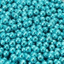 Suikerparels Metallic blauw