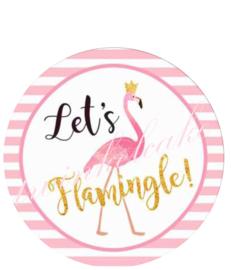 taartprint flamingo 2