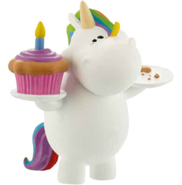 Chubby Unicorn Birthday cake topper