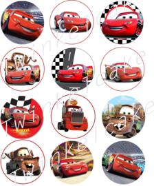 Imprimé comestible cupcake cars 1