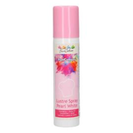 Lustre Spray Pearl White Metallic (Funcakes) - 100 ml