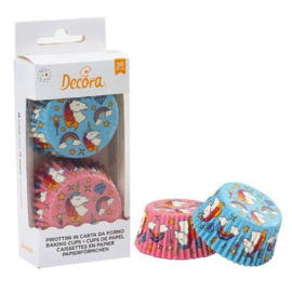 Unicorn baking cups pink/bleu - 36 st