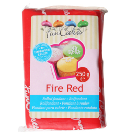 Rolled fondant Fire Red 250 gr