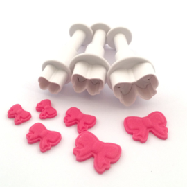 Mini strikjes (mini bows) Decofee plunger/cutter