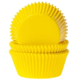 Cake cups geel House of Marie 50 st