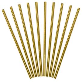 Paper Straws (rietjes) Gold - 10 st