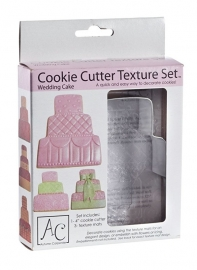 Wedding cutter met reliëfmatjes set