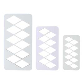 PME Geometric Diamond XL set 3 st