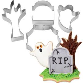 Halloween Cookie Cutter set RIP 4 st