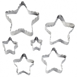 Star double cut outs set 6 st