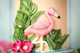 Flamingo & Tropical Birds by Karen Davies