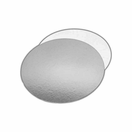 Taartkartons Silver/White rond 30 cm per 100 st