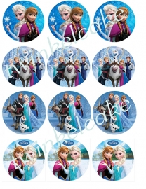 Frozen Edible print cupcake 1