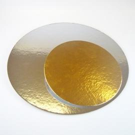 Taartkarton  Zilver/Goud  Rond - 15.2 cm - 3stuks