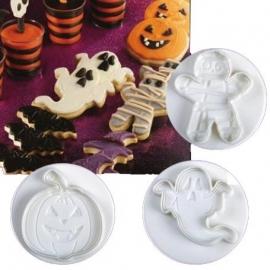 Halloween plunger/cutter set large 3st