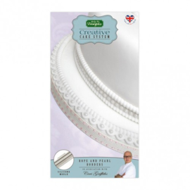 Rope and Pearl Borders silicone mould (Katy Sue Design)