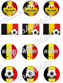 WK voetbal cupcakeprints