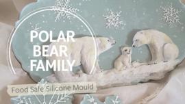 Polar Bear Family by Katy Sue (silicone mal)
