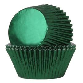 Baking cups metallic green House of Marie