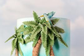 Tropcal leaves by Karen Davies (tropische bladeren)
