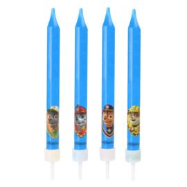Paw Patrol 4 verjaardagskaarsen - 9 cm