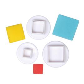 Square plunger/Cutter set 3 st (cake star)