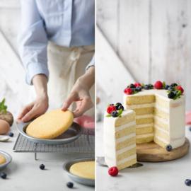 Cake Layer bakingpan 5 st 15 x 3.5 cm