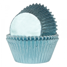 Backförmchen House of Marie Metallic Baby Blau 50 st