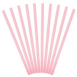Paper Straws (rietjes) Licht Roze - 10 st